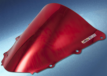 Windscreen Color Red Style Chrome Honda CBR1000RR 2004 2007 | ID HW | 1005CRE