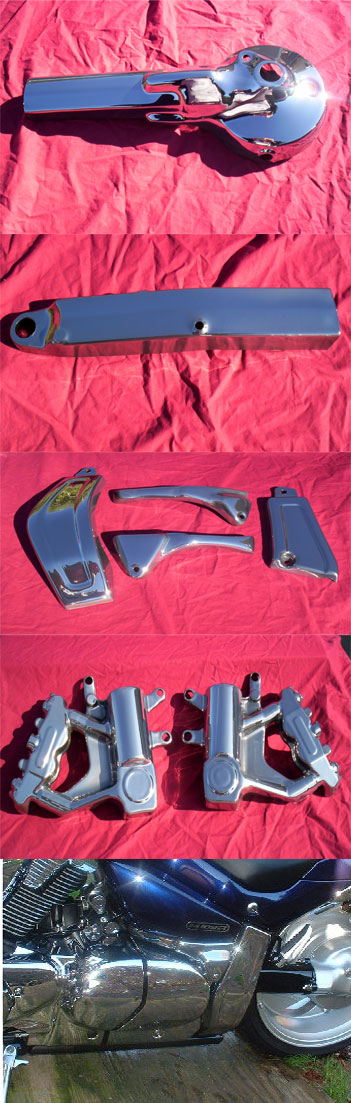 Suzuki M109 Chrome Frame and Body Covers | ID 2292